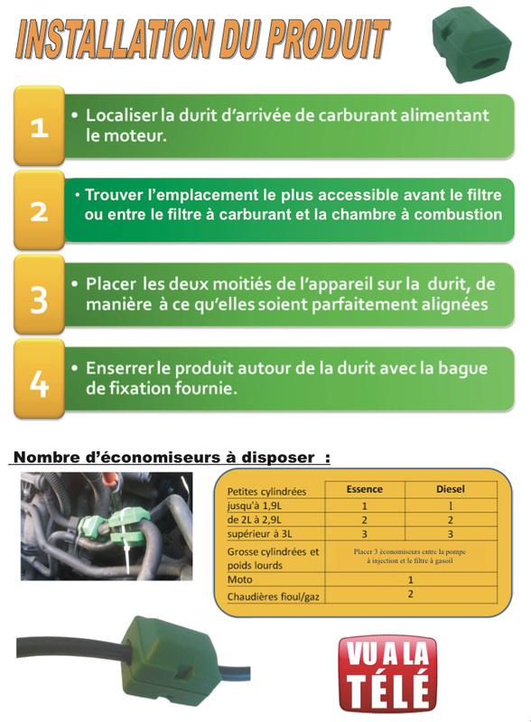 Installation économiseur de carburant diesel ou essence